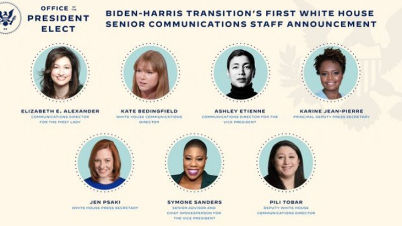 President-elect Joe Biden's announced an all-female communication team. including an Omaha...