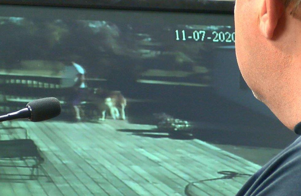 Surveillance video of Trent Esch on July 11, 2020