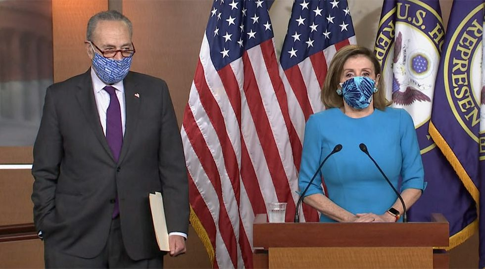 The message from House Speaker Nancy Pelosi, D-Calif., and Senate Minority Leader Chuck...
