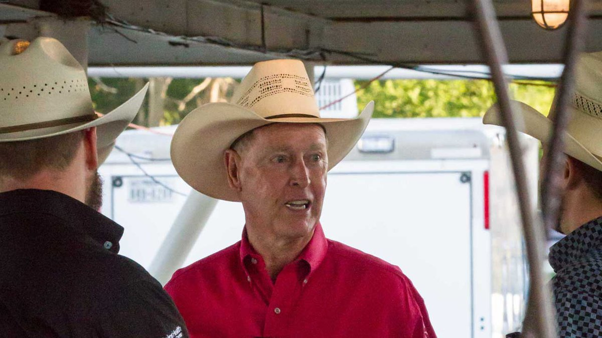 Rich Reinert, a former rodeo bullfighter, volunteers his time at the Buffalo Bill Rodeo. A...