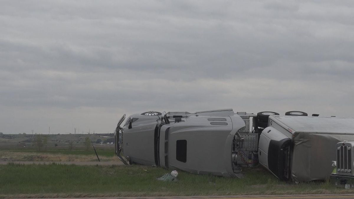 The Nebraska State Patrol is investigating a crash after a wind gust blew a semi over on I-80...