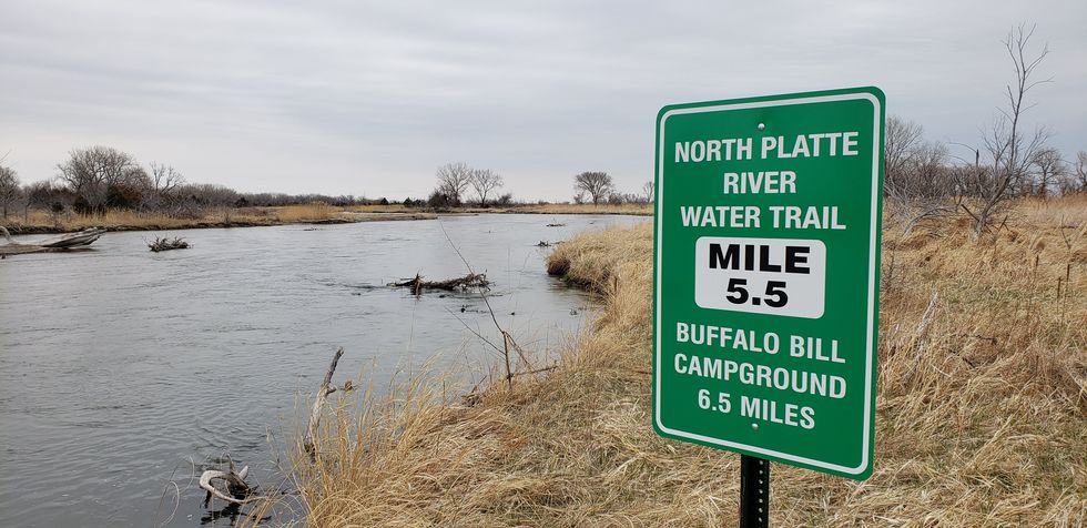 North Platte Water Trail Sign
