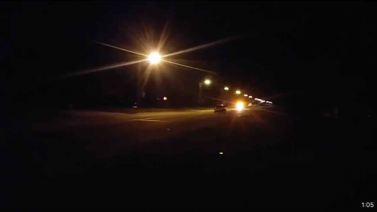High-speed chase through Arapahoe, Nebraska. Video images were caught on a cellphone by an Arapahoe man. The video was made from his front yard,. No official word if the suspect was found after the chase was called off around 3;30 am. (SOURCE: Kevin Herbert, Arapahoe).