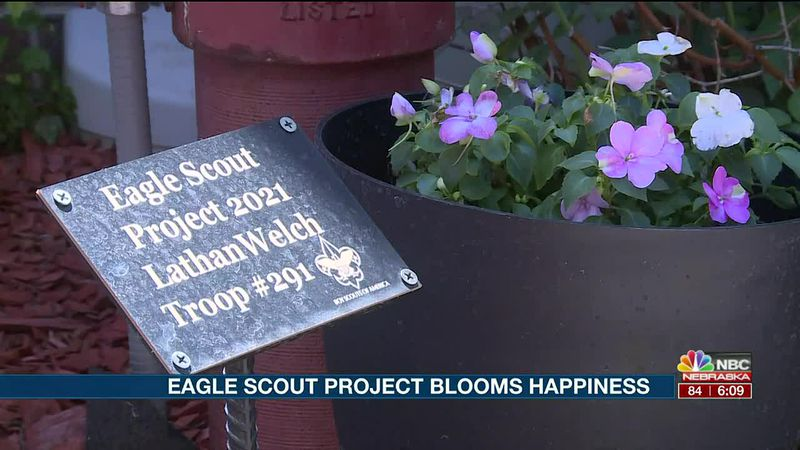 Eagle Scout Project Blooms Happiness