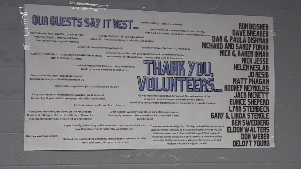Volunteers sign at the event