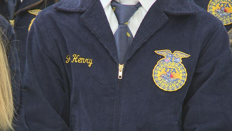 Closeup of FFA student's jacket.