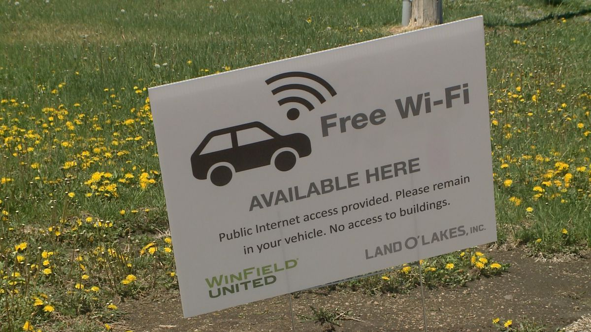 WinField United in Ogallala is offering free internet available in the parking lot of its...