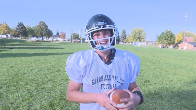 The four year Sandhills Valley QB is this weeks Friday Night Sports Hero