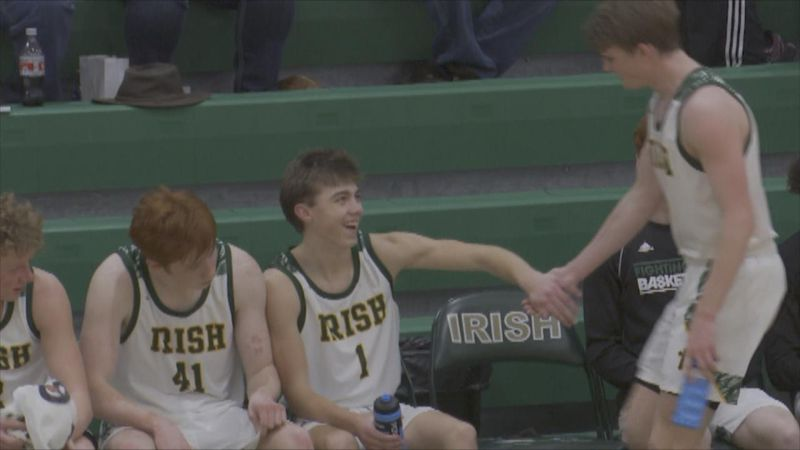 The St. Pat's boys basketball team advances to the D-11 Sub-District Finals.
