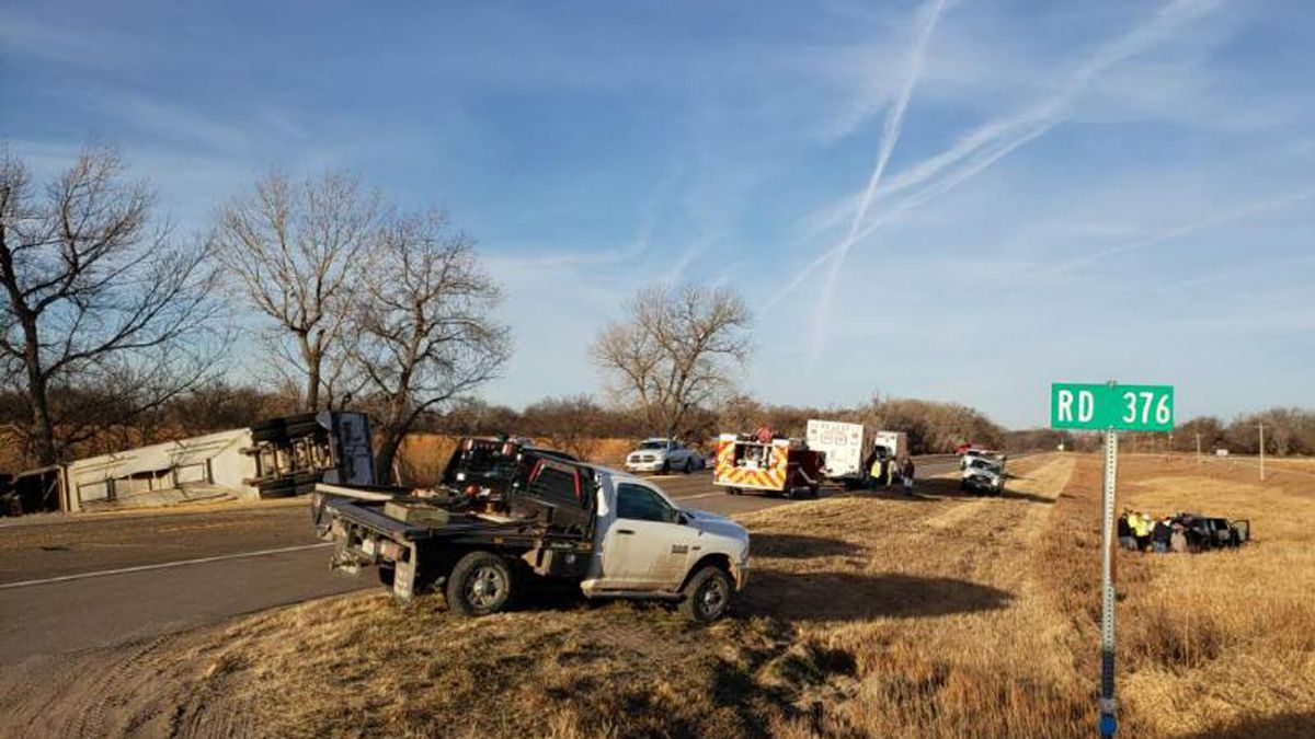 Just after 8 am, Tuesday, a semi vs. pickup accident two miles east of Culbertson on Highway 6 & 34. Witnesses say the pickup pulled out in front of a semi pulling a trailer loaded with corn. The semi driver was unable to avoid a head on collision.