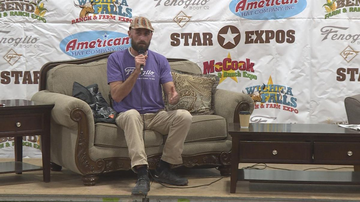 Owner and operator of Purple Sage Hemp Company from Colorado spoke to farmers about growing and producing hemp at the McCook Farm and Ranch Expo. (Source: Jace Barraclough/KNOP)