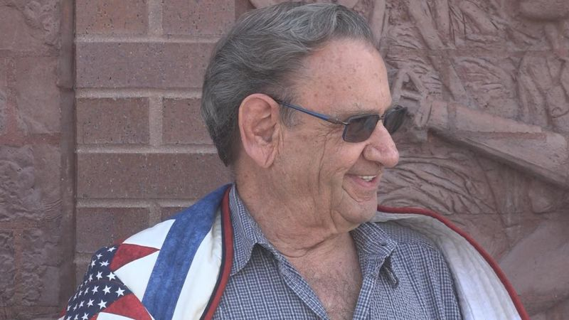 Local veteran, Riley Burchell,  recognized for service in military.