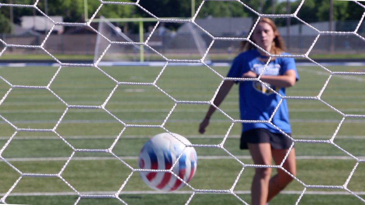 North Platte High School graduate Shelbee Clow is one of two Bulldogs selected to play in the Nebraska High School Senior Soccer Showcase in Omaha on July 24, the other is Callie Haneborg. (Credit: Patrick Johnstone/KNOP-TV)