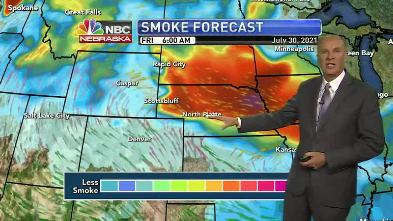 Wildfire smoke could impact visiblity and air quality, Friday..