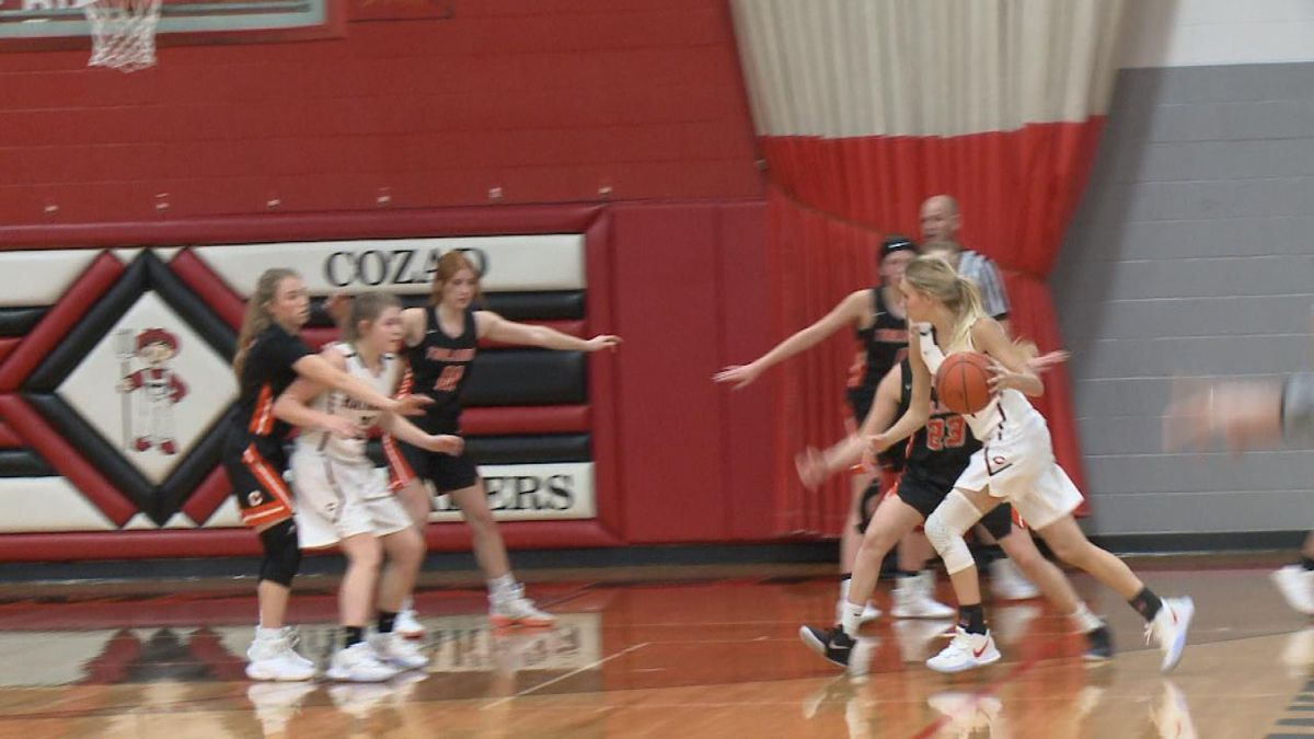 Cozad girls' basketball hosted Cambridge on Thursday. The Trojans got the win 42-27 (Credit: Sam Pirozzi/KNOP-TV)