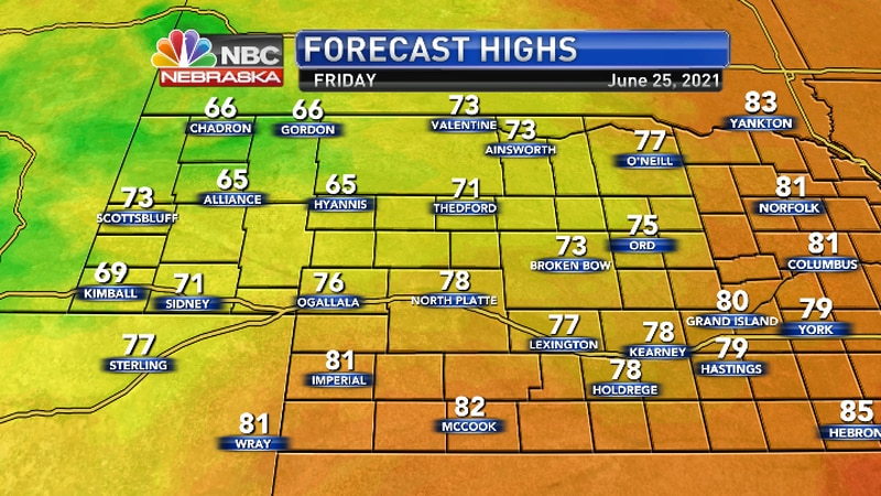 Much cooler with below normal temperatures.