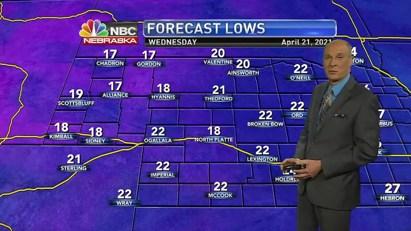 A record low is threatened for North Platte..