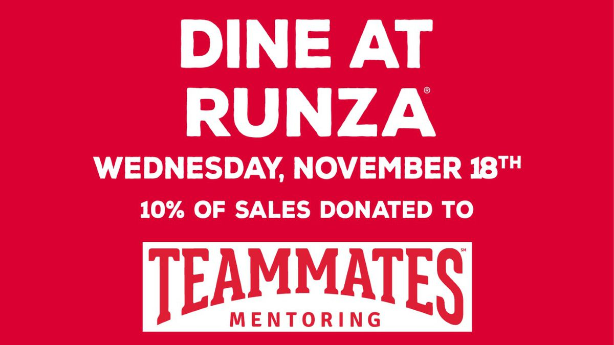 The North Platte Runza locations is hosting a fundraiser for the TeamMates Mentoring Program on...