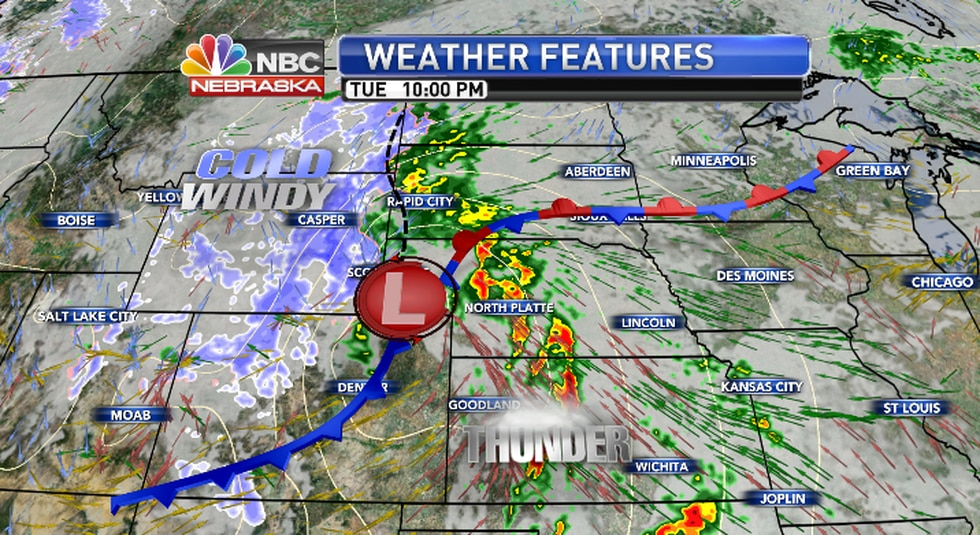 Storms will be strongest mid evening..