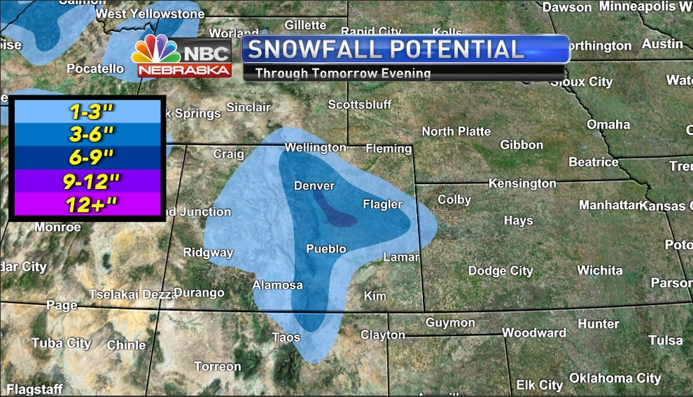 Snowfall potential through Thursday.