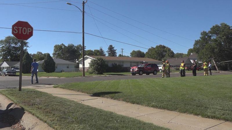 Homeowners on the city's east side were left without power after a one vehicle accident.