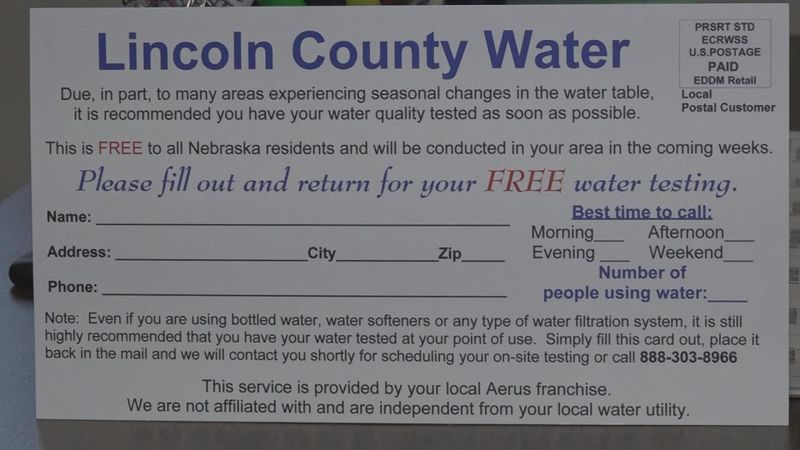 Municipal Light and Water is warning residents about a flier that advertises free water testing.