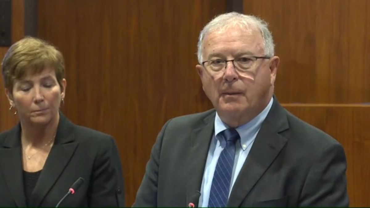 Douglas County Attorney Don Kleine begins his news conference responding to the death of James Scurlock on Monday afternoon, June 1, 2020. (WOWT)
