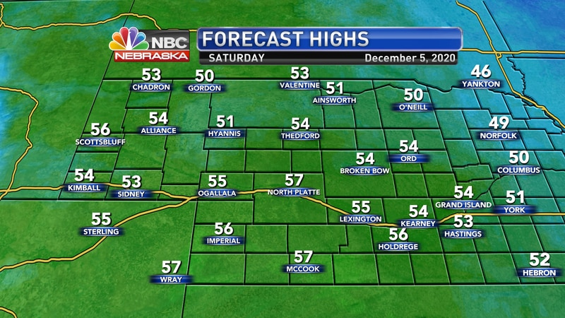 Temperatures will be a few degrees cooler on Saturday, but should still reach the mid 50s for...