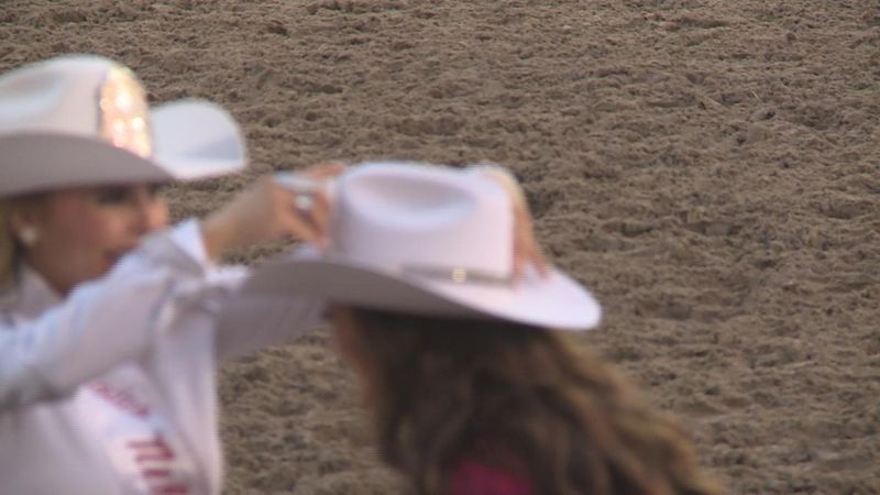 The actual moment of the crowning for Miss Rodeo Nebraska.
