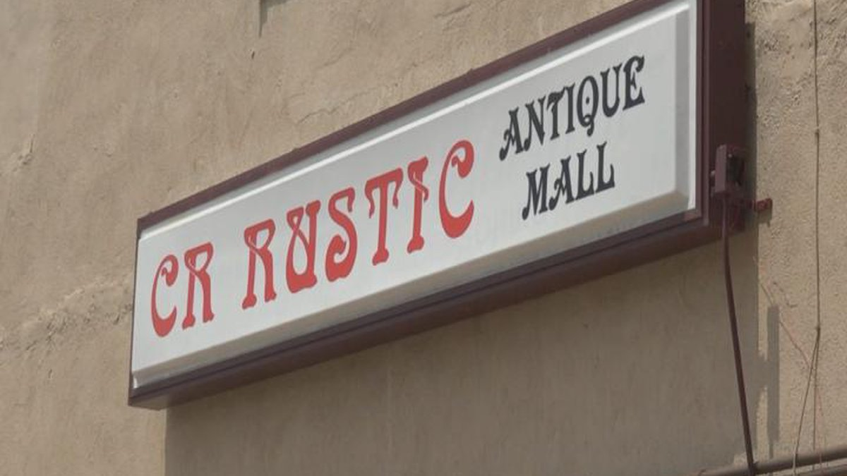 CR Rustic's new sign on their new building.