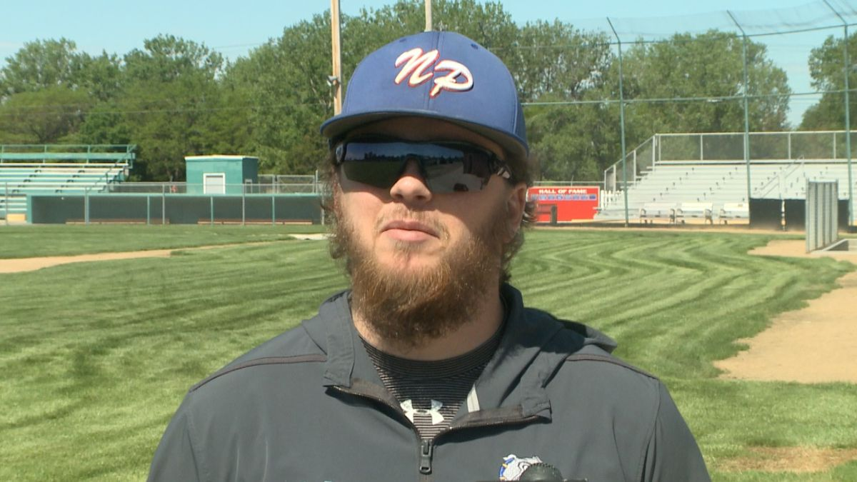 Andy Butler is the new head coach for the North Platte FNBO Nationals Legion baseball team. (Credit: Patrick Johnstone/KNOP-TV)
