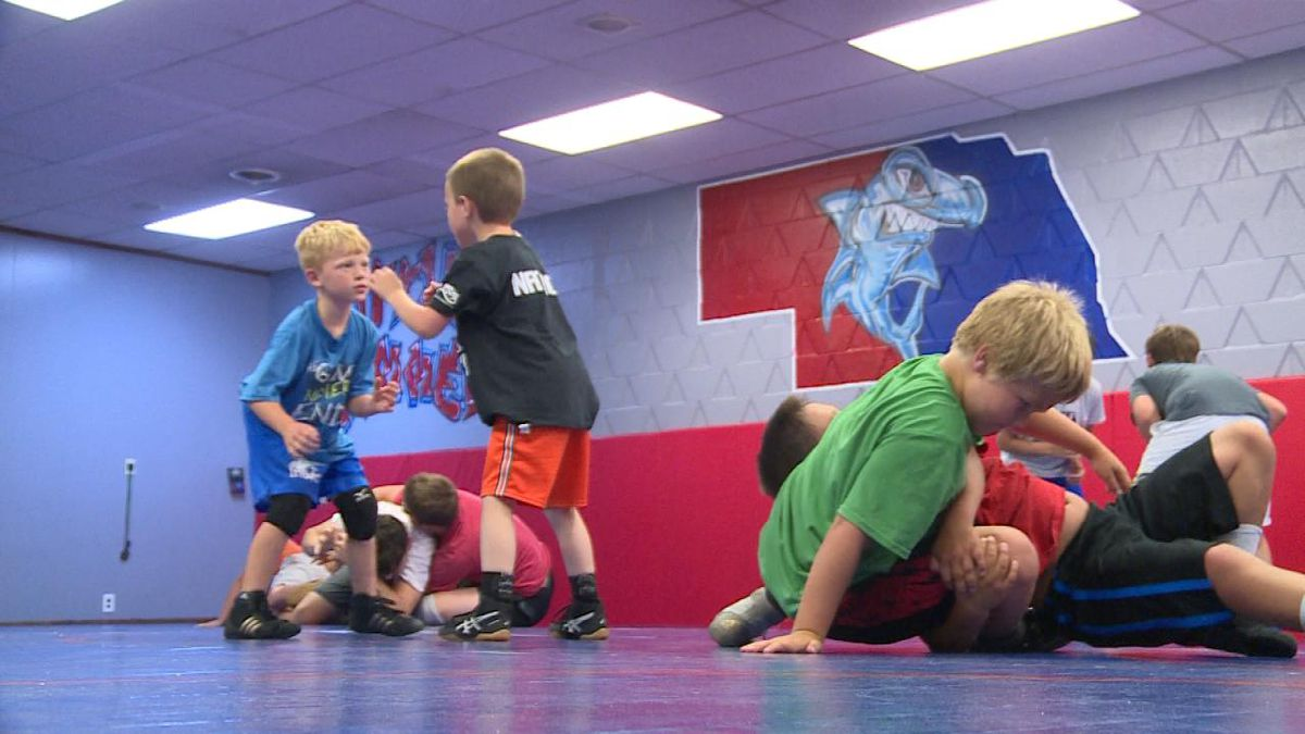 The Little Hammers Wrestling Club is the only wrestling club in North Platte to wrestle all year (Credit: Patrick Johnstone/KNOP-TV)