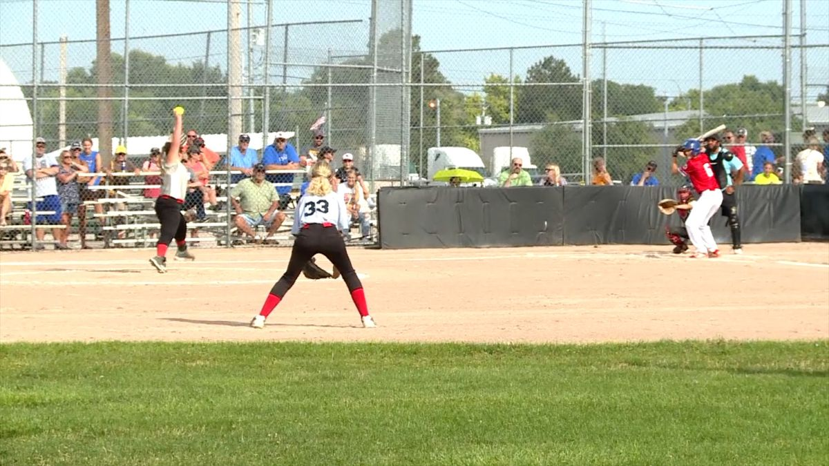 Action from the 2019 Rumble by the River. Travel softball teams can begin practicing in Nebraska on June 1. (Credit: Patrick Johnstone/KNOP-TV)