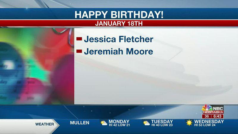 Happy January 18th Birthdays