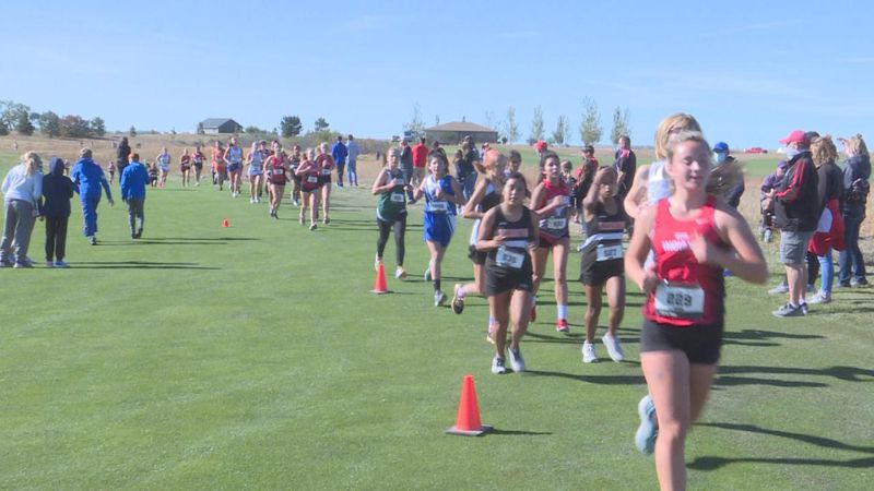Gothenburg hosted cross country at Wild Horse Golf Club.