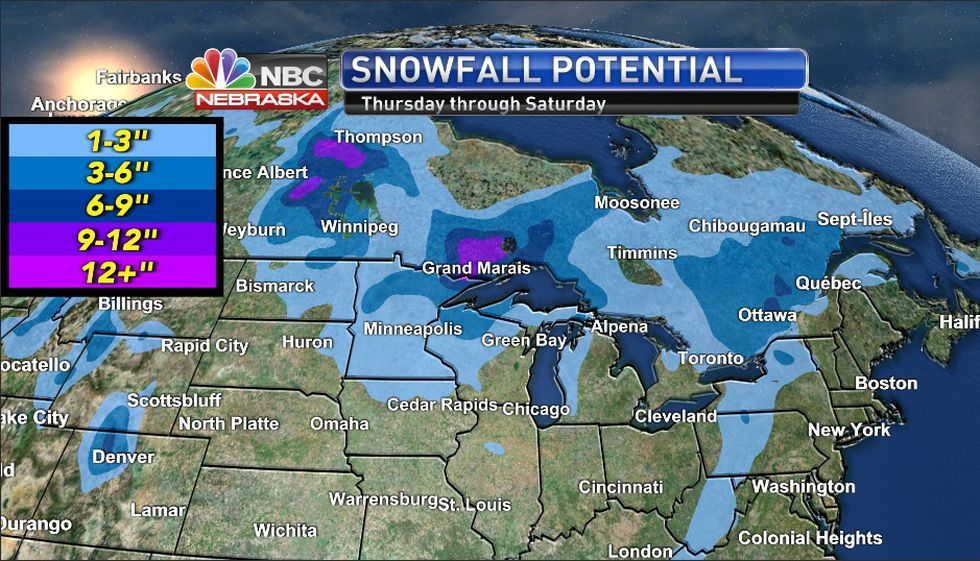 Snow Misses us to West and Northeast later this week.