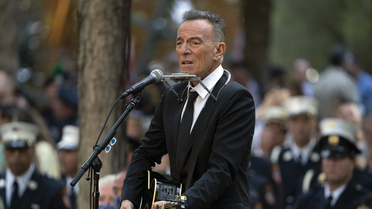 FILE - In this Saturday, Sept. 11, 2021, file photo, Bruce Springsteen performs during...