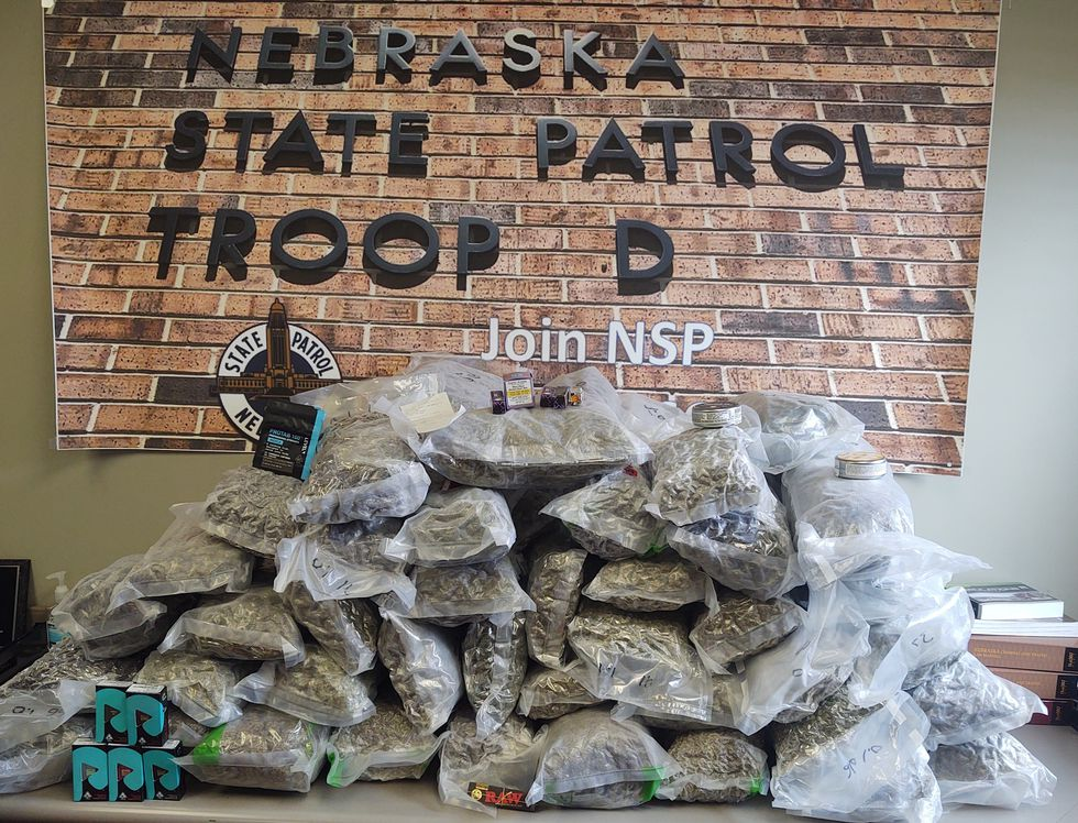 NSP drug bust on 4/19 in Dawson County. A search of the vehicle revealed 88 pounds of...