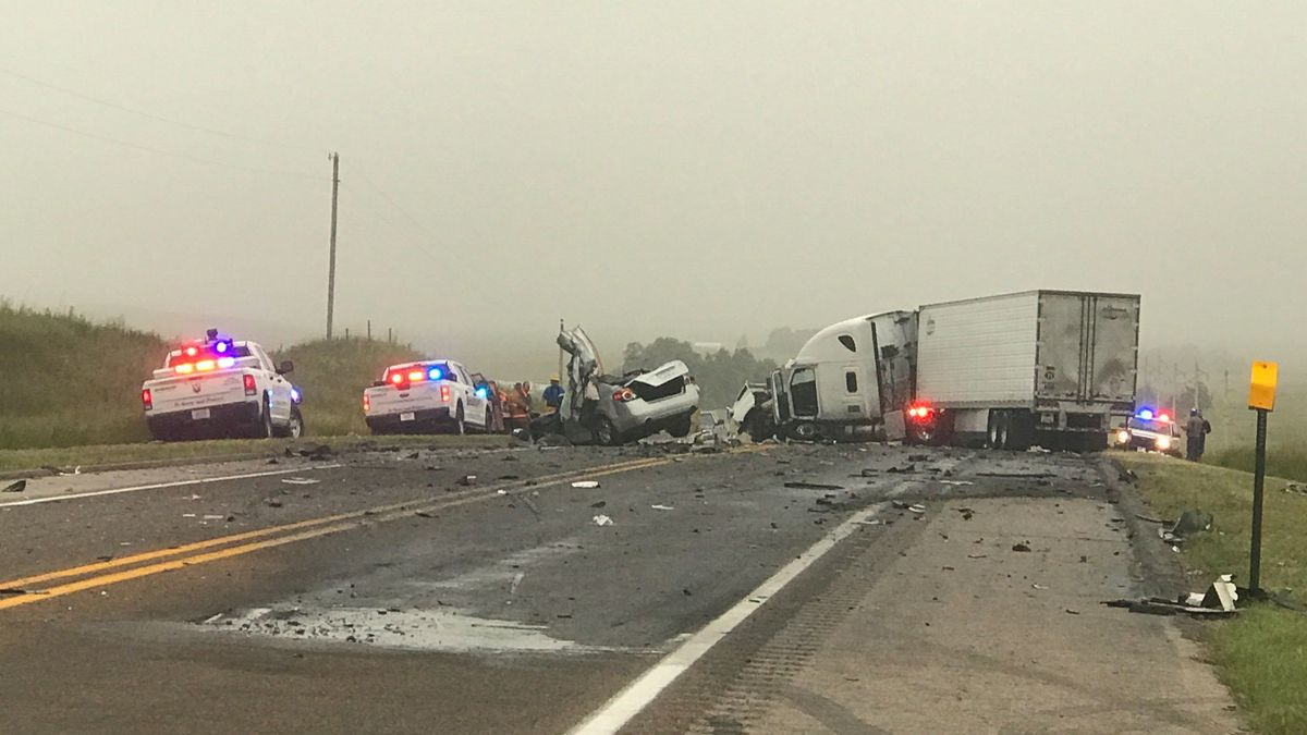 One person died in this car crash south of North Platte.  The driver collided with a semi.  The semi driver is not seriously hurt.  Officials say one of the vehicles was on the wrong side of the highway crossing the center line.