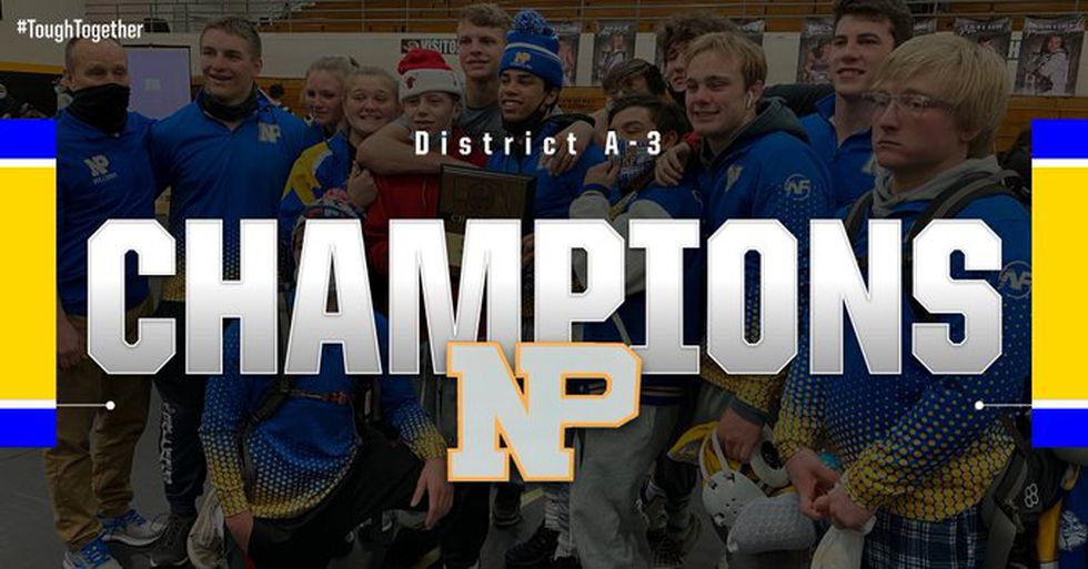 The Bulldogs wrestling team put together a dominant performance at Districts!