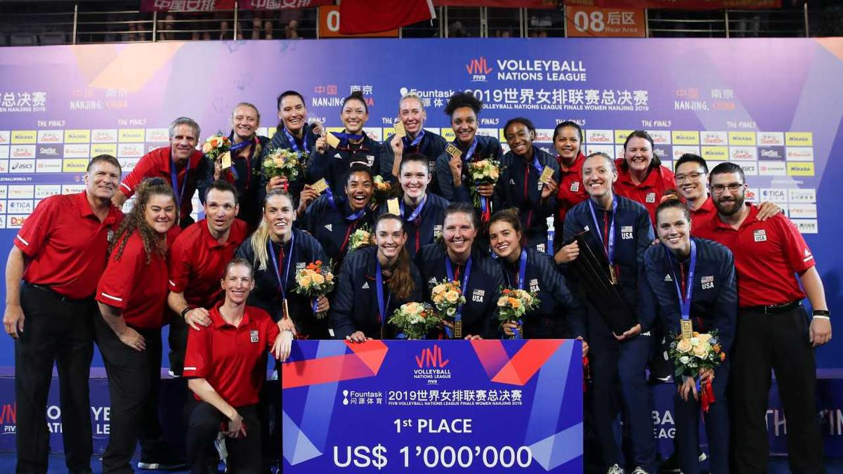 U.S. Women win FIVB Volleyball Nations League for second straight year (Source: USA Volleyball)