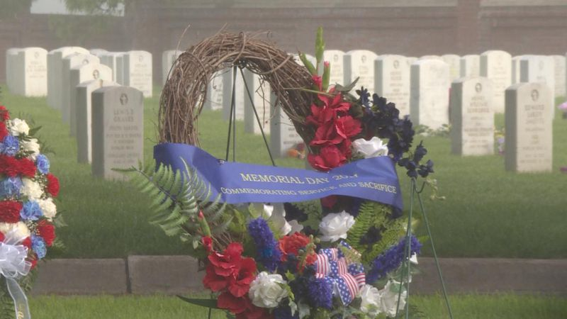 The Memorial Day wreath at Fort McPherson.