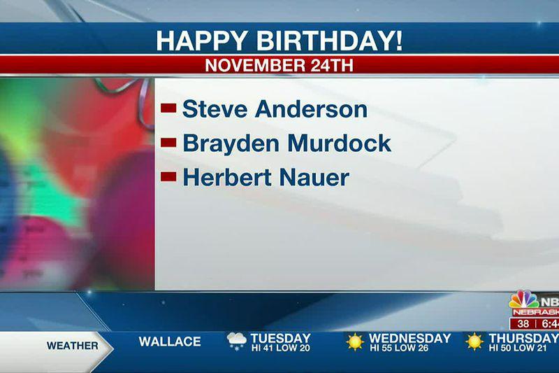 Happy November 24th Birthdays.