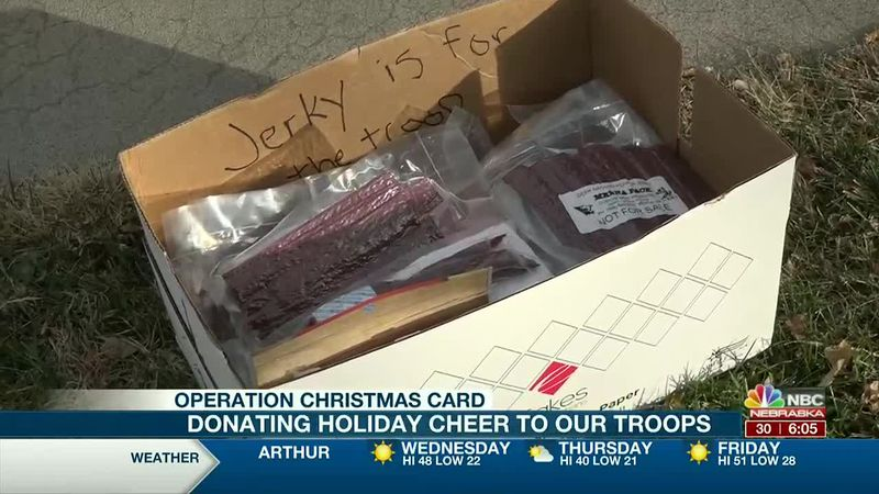 Jerky donation for our troops - Operation Christmas Card