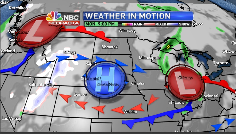 Pattern change for the region Sunday into Monday