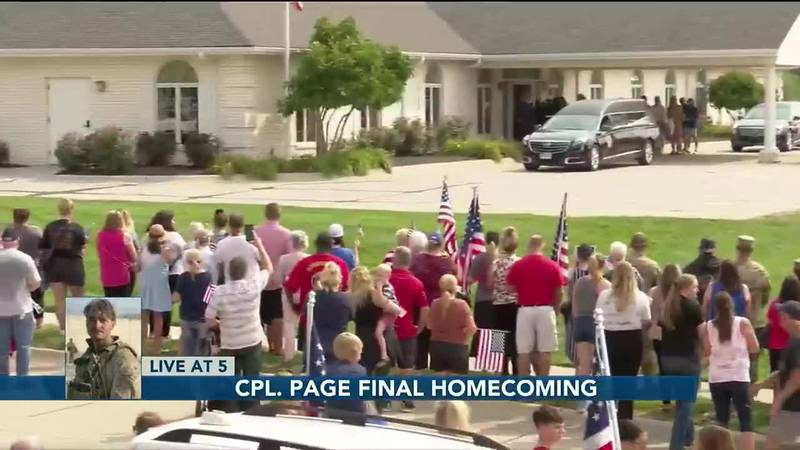 Cpl. Page final homecoming - 5 pm Chapman
