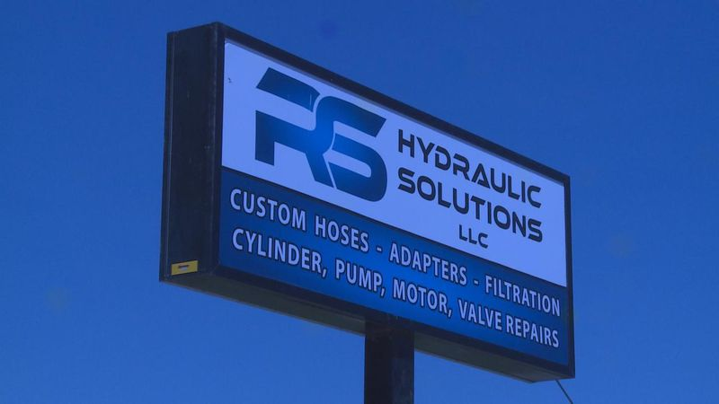 The entrance sign of RS Hydraulic Solutions LLC.