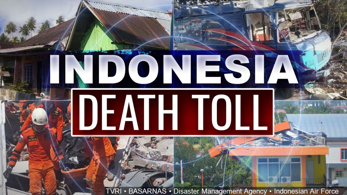 Indonesia Death Toll. Credits: , BASARNAS, Disaster Management Agency<br />and Indonesian Air Force