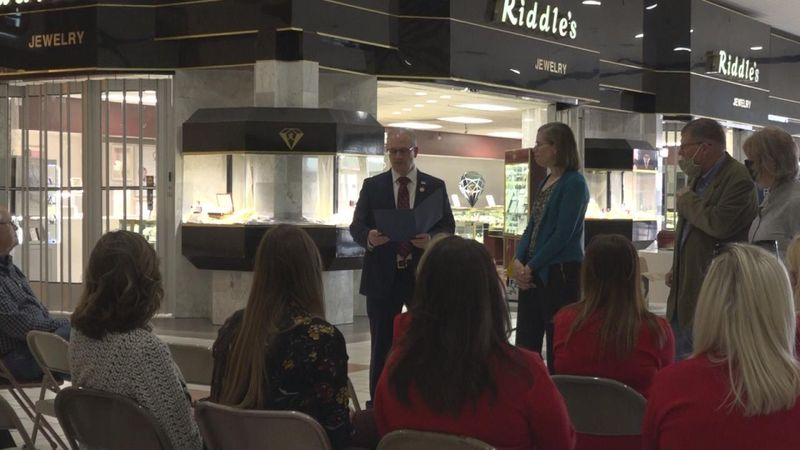 North Platte Mayor Brandon Kelliher commemorates The Telegraph's 140 years and the launching of...