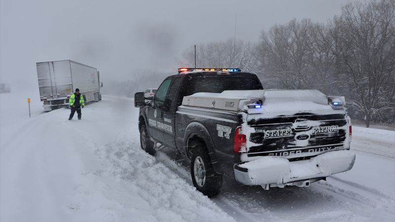 Nebraska State Troopers have responded to more than 300 weather-related incidents today as...